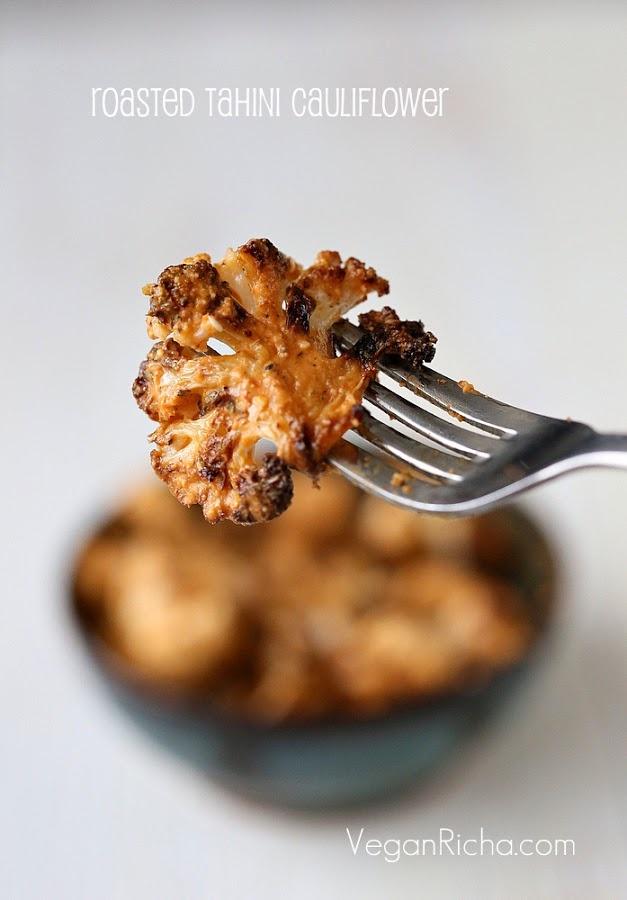 Roasted Tahini Cauliflower from Nut Butter Universe by Robin Robertson. Photo by @Richa | Vegan Richa