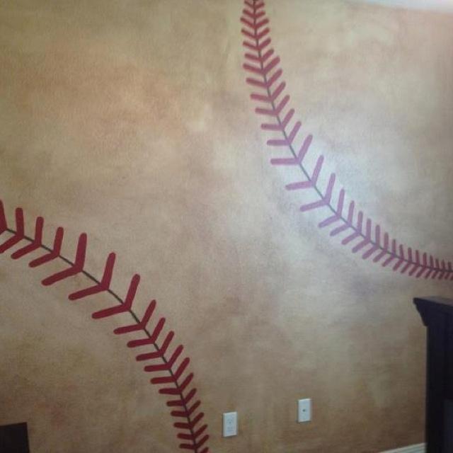 Baseball Wall In My Nephews Room