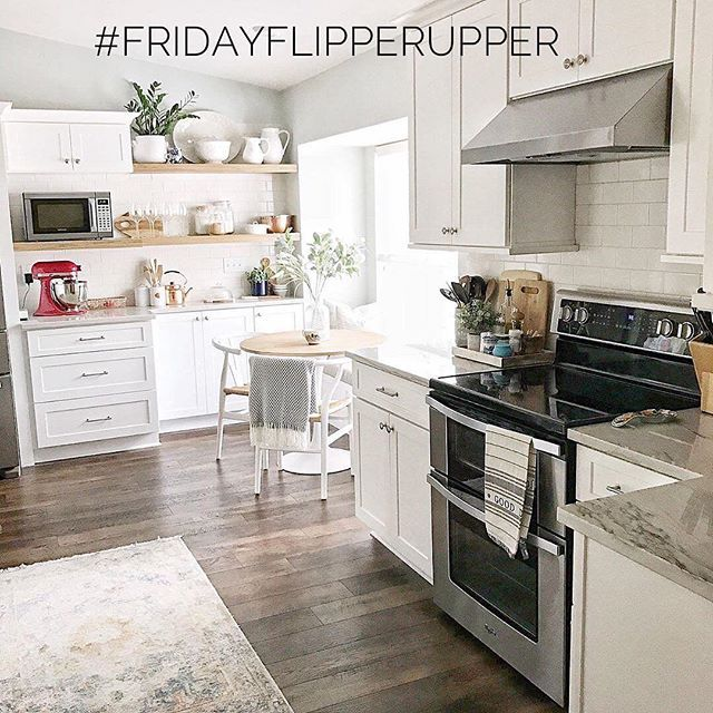 Time for another round of #FridayFlipperUpper!  What an incredible kitchen renovation by Kelly @hartley_home  Be sure to check out the before & afters on her page! We want to announce the addition of a new permanent host for our hashtag- please welcome the talented Kathleen @thefrenchmarketplace  We are thrilled to have you with us! We want to see YOUR fixer upper spaces, your flea market flips, your DIY's- Anything you've given a makeover! This is an ALL WEEK tag, so upload your…