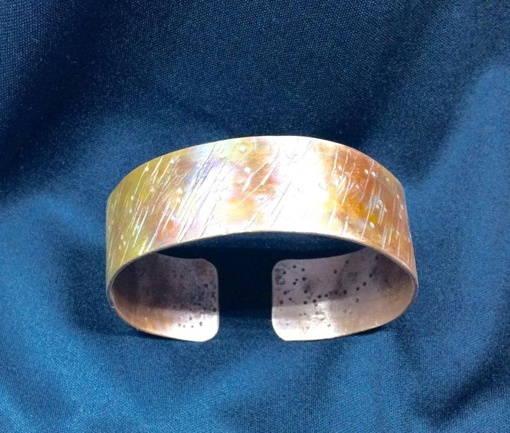 Heavy hammered copper bracelet. by cindymarie