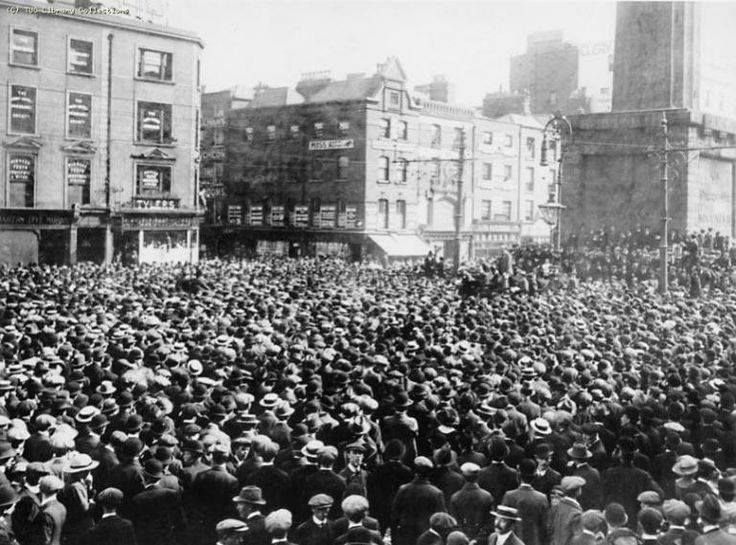 The Great Strike Dublin 1913 The Dublin Lock-Out which started in August 1913 and ended in January 1914 was one of the biggest labour disputes of the last century in the British Isles.