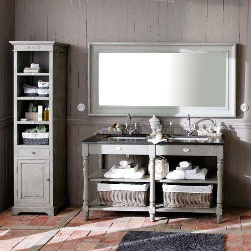 Mueble Baño Gris Perlalos huéspedes tocadores de baño sumideros