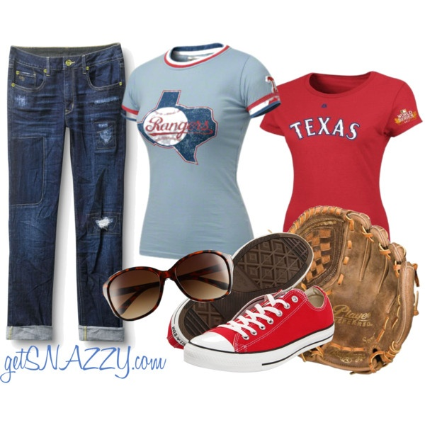 Baseball: Opening Day - Texas Rangers, created by getsnazzy on Polyvore