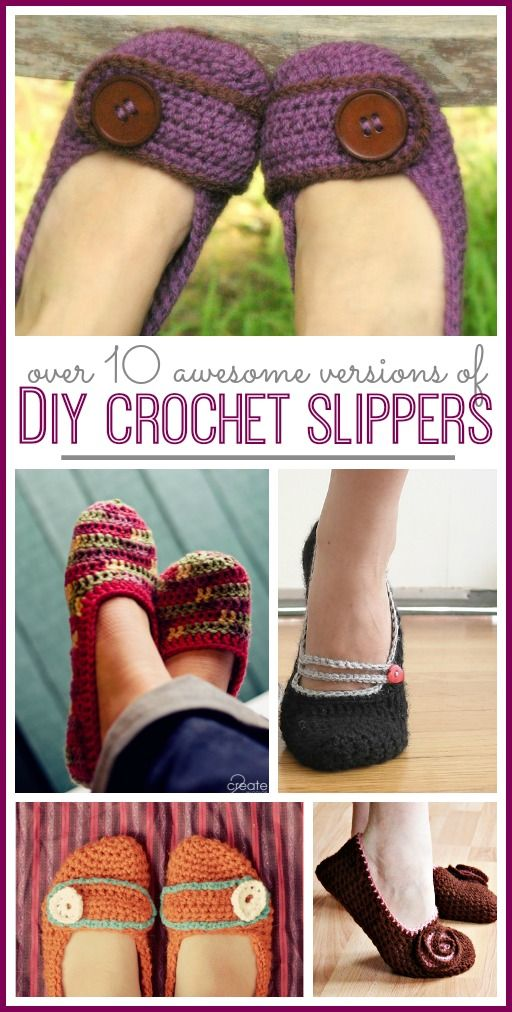 diy crochet slippers pattern (great for gifts!! using fun yarn choices) - - Sugar Bee Crafts