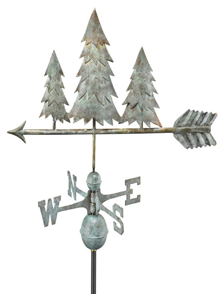 The Evergreens Standard Weather Vane makes the perfect crowning accent to your home. This handcrafted and charming weather vane will add sophistication and intricate style to your home. Created from m