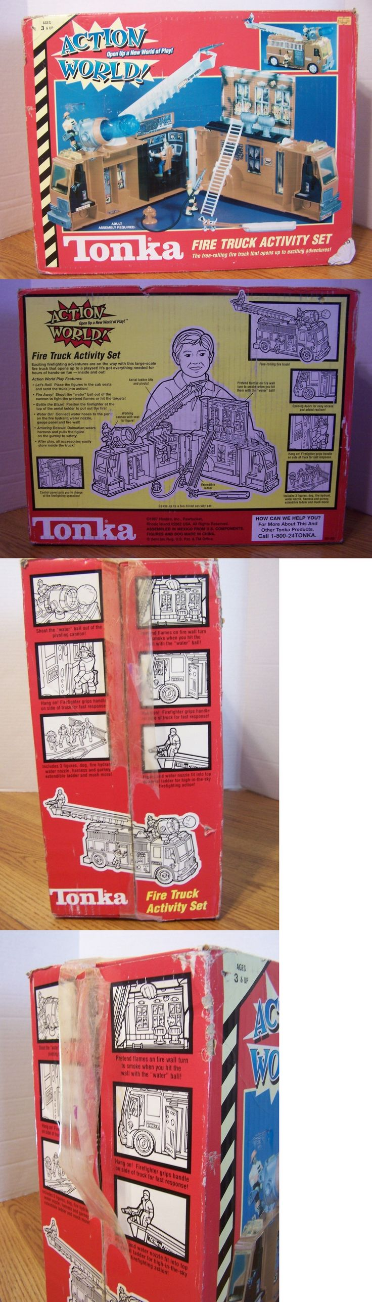 Toy Vehicles 145946: Hasbro Tonka Action World Fire Truck Activity Set Nos Vintage Rare 1997 -> BUY IT NOW ONLY: $129.99 on eBay!