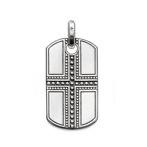 Thomas Sabo: The integrated cross on 925 Sterlingsilver makes the dog tag a truly stylish everyday companion. $164.