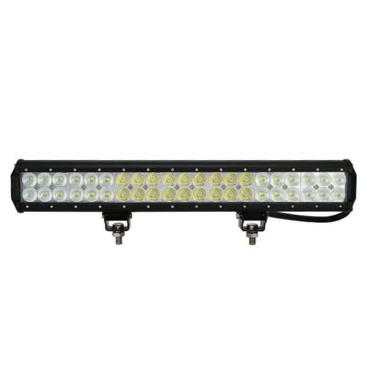 20 inch 126W Cree Flood & Spot Dual Row LED Light Bar Off Road Work Light (20 inch light bar), Silver aluminum