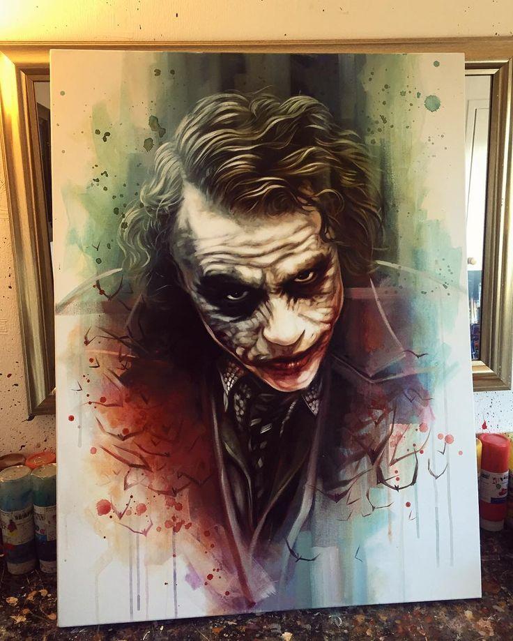 """8,579 Likes, 137 Comments - Ben Jeffery (@benjefferyartist) on Instagram: """"NEW - 'A Freak Like Me' Original Oil on 30""""x40"""" canvas. #joker #batmanarkhamknight #darkknight…"""""""