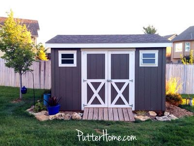 Exterior color options: Porpoise and Rice Grain {what colors to paint your shed}