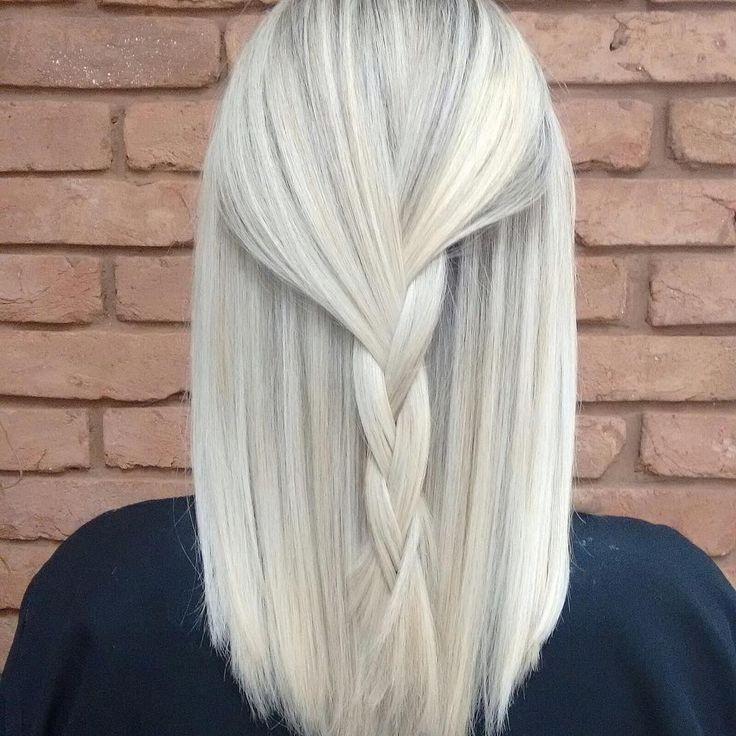 Platinum Blonde with Subtle Streaks