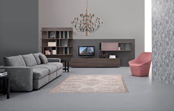 E-WALL Bookcase  CARESSE Sofa              RHEA Armchair