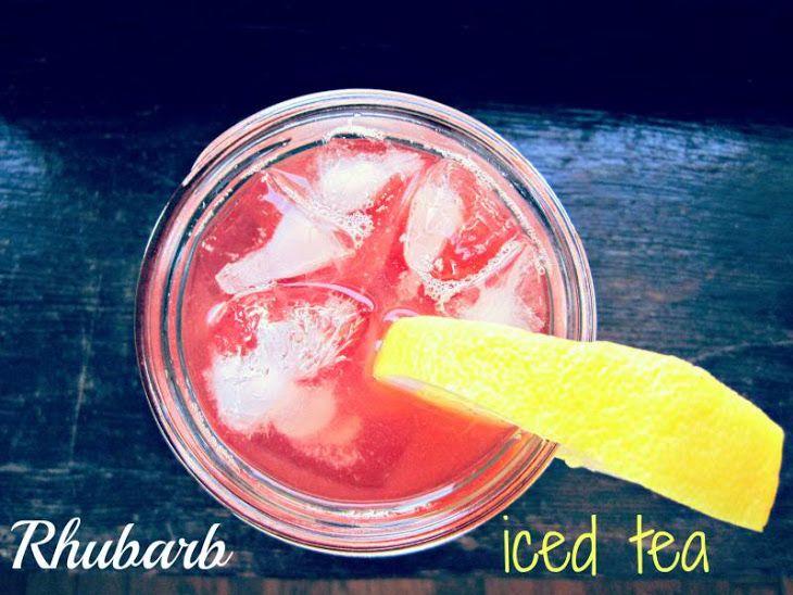 Rhubarb Iced Tea Recipe | Drink | Pinterest