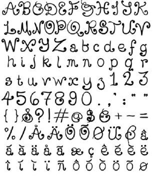 Curly tattoo font very girly tattoos pinterest for Girly font tattoo