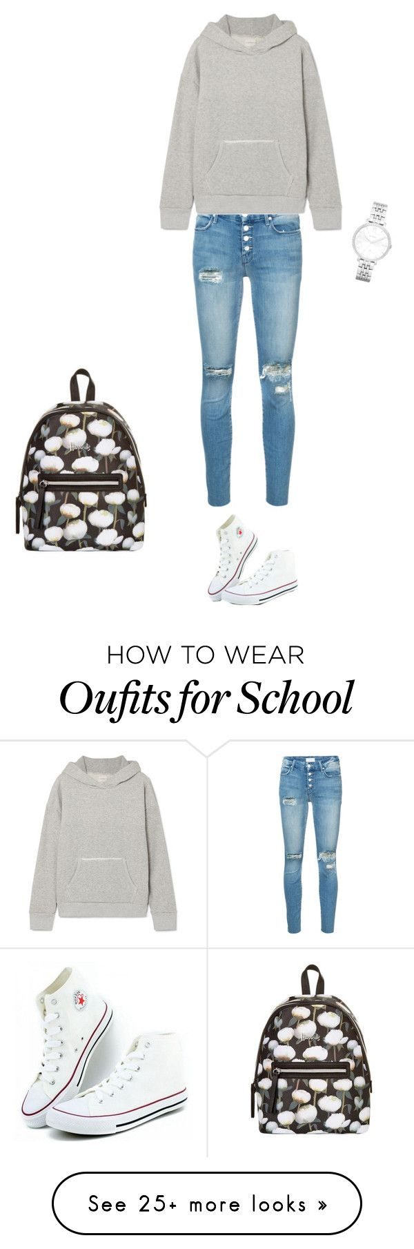 """Lazy school day"" by umanamelb on Polyvore featuring FOSSIL, Mother, Simon Miller and Harrods"