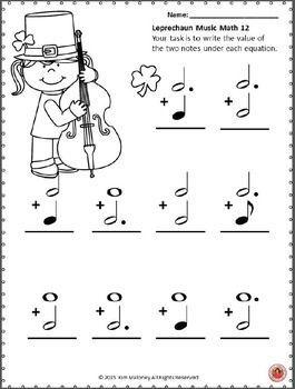 MUSIC: Leprechaun Music Math by MusicTeacherResources | Teachers Pay Teachers