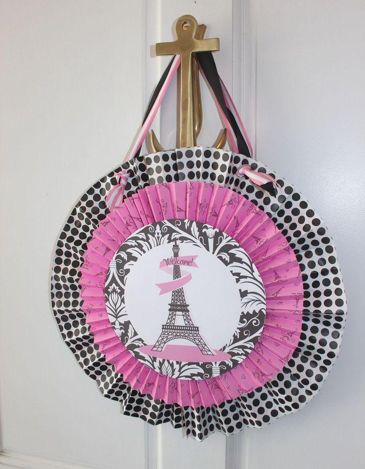 French Theme Party - French Bulldog - Eiffel Tower - Bridal Shower