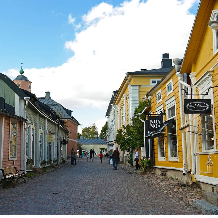 Porvoo, Finland   I loved this little town. It's what most naive, novice travelers think all of Europe looks like. It was so fricken cute. Good chocolate too.