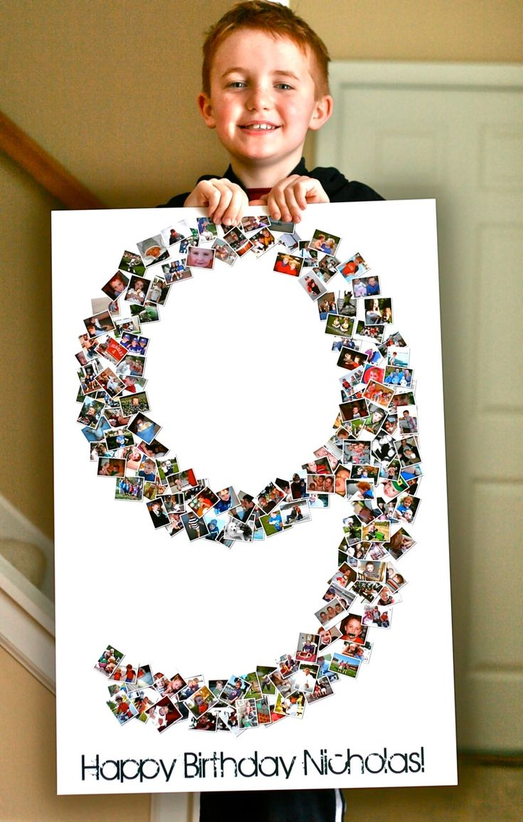 Birthday Collage Poster - think I'd do this in their initial