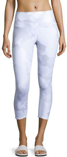Alo Yoga Airbrush Printed Sport Capri Leggings