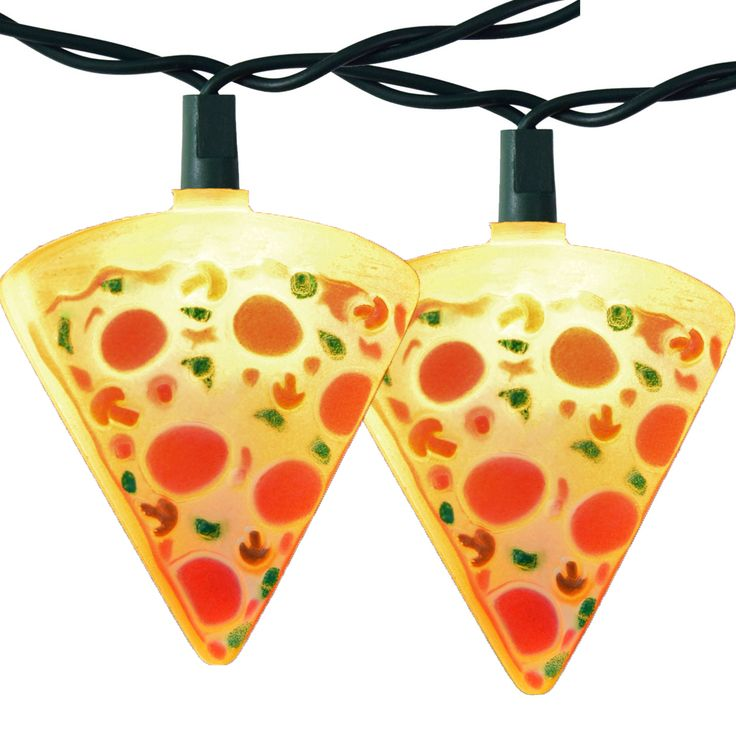 Pizza Slice Light Set   Party String Lights