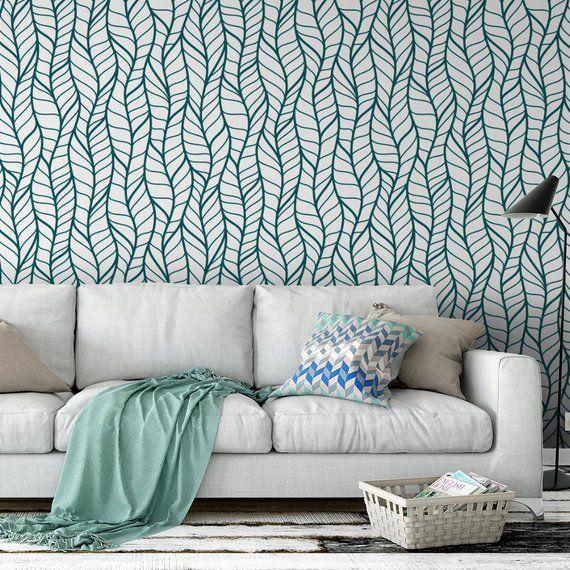 Wavy Herringbone Removable Wallpaper G215 27 Etsy Removable Wallpaper Herringbone Wallpaper Geometric Removable Wallpaper