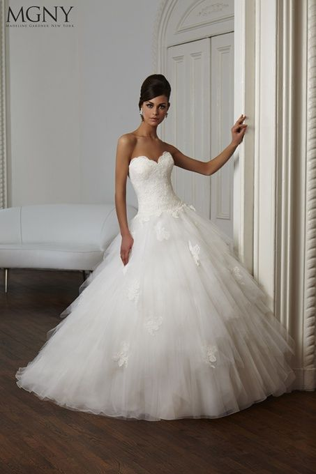 Top 25 ideas about Tulle and organza ball gown wedding dresses on ...