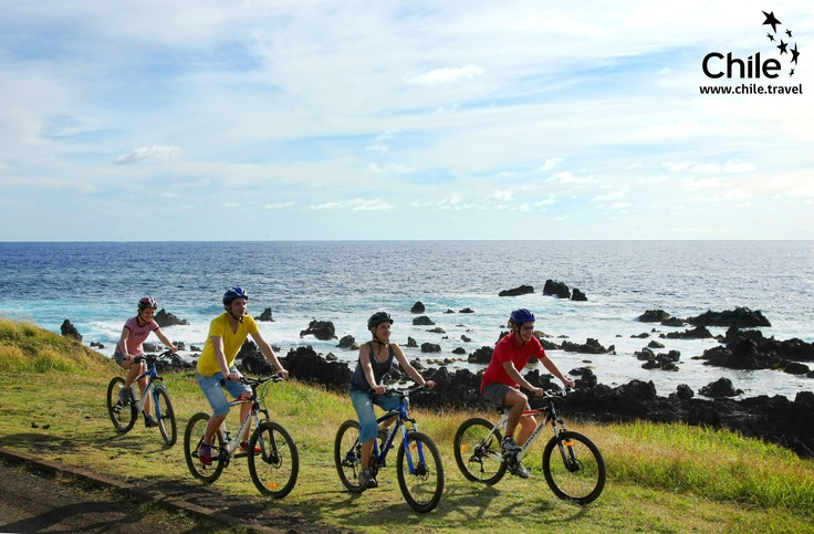 A bike ride... perfect for this weekend  Easter Island, Chile #pinChile #sports #adventure