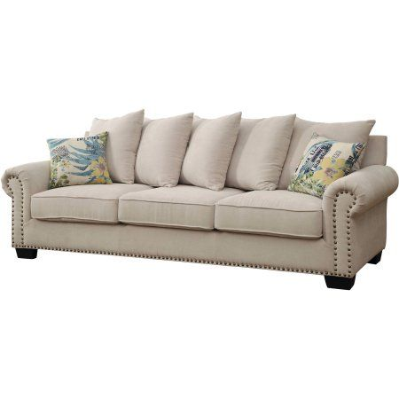 Furniture of America Colleen Transitional Sofa, Ivory
