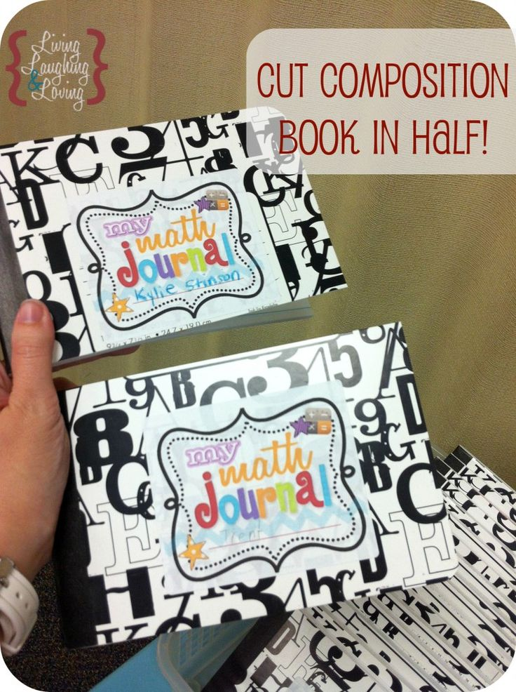 did you ever think of cutting composition books in half? Great idea for math notebook. Less overwhelming for littles. plus great cover printable