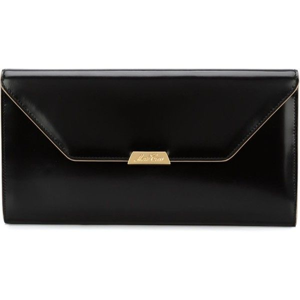 Mark Cross envelope clutch (63.010 RUB) ❤ liked on Polyvore featuring bags, handbags, clutches, black, mark cross, mark cross handbags, envelope clutch bag, envelope clutch and mark cross purse