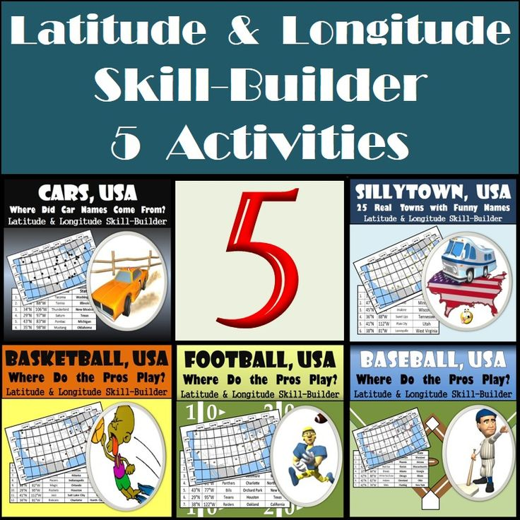 Us Lat Long Map%0A  Pack Bundle of Latitude and Longitude skillbuilding worksheets  Students  will be