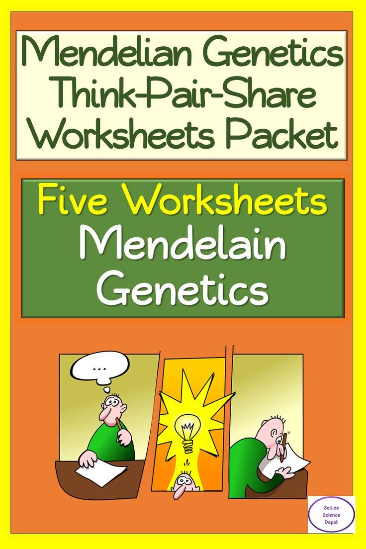 Mendelian thinkpairshare worksheets packet in