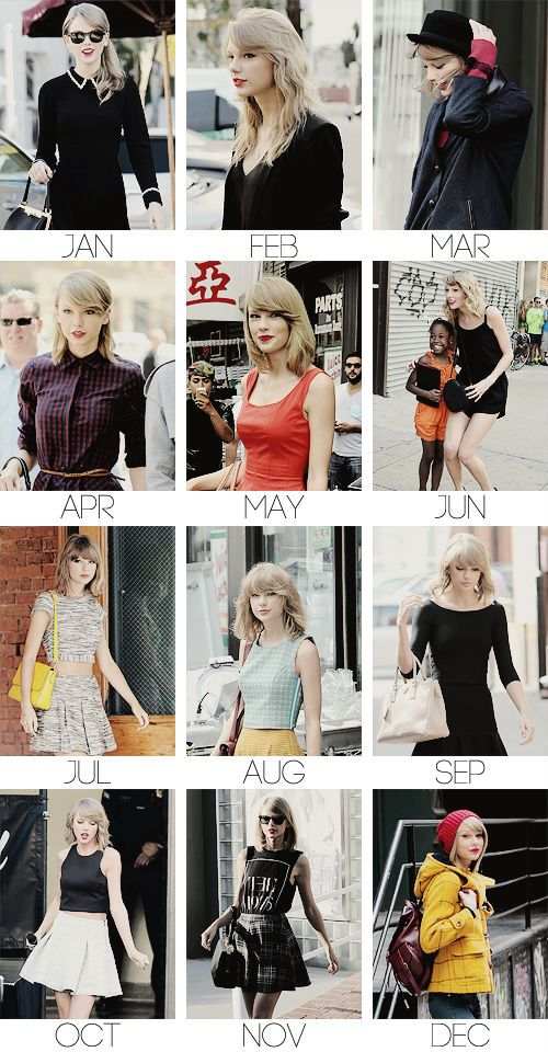 Taylor Swift - A year in candids - 2014