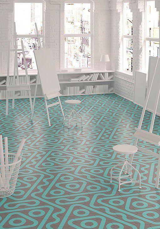 Mejores 48 im genes de reforma en pinterest suelos azulejos y baldosas - Baldosas hexagonales ...