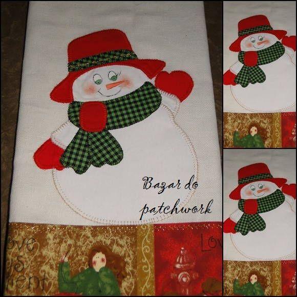 Papai noel aplique Pinterest Patch quilt