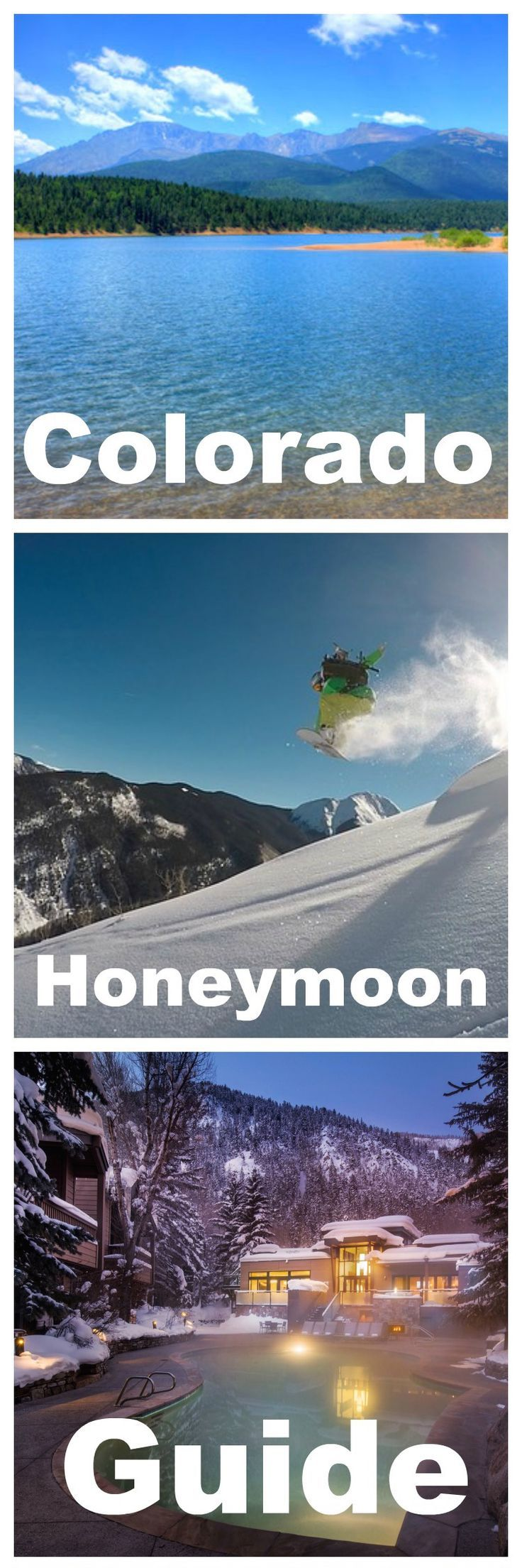Colorado offers honeymooners a variety of experiences and options without the need of a passport. Whether looking for a ski retreat in the winter or a rocky mountain adventure in the summer, Colorado can provide you the perfect itinerary to start off your married life.