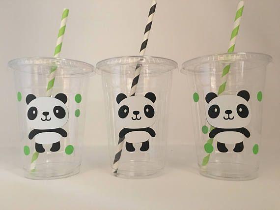 Panda grupo tazas tazas de fiesta de cumpleaños de Panda