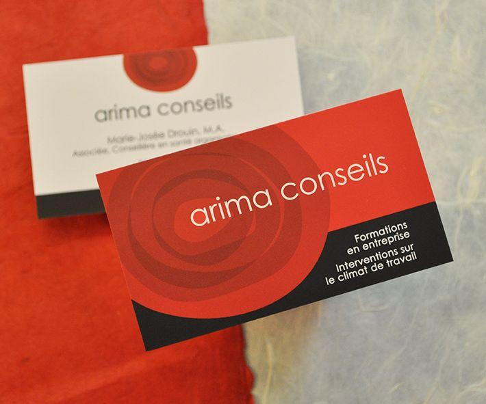Business cards, Arima conseils