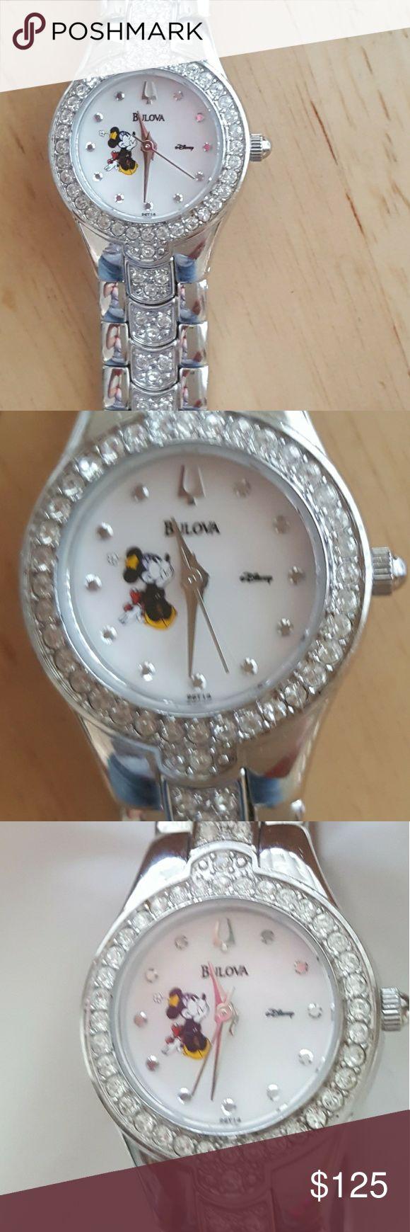 Bulova Mickey Watch Water Resistant, no box, worn it once Bulova Accessories Watches