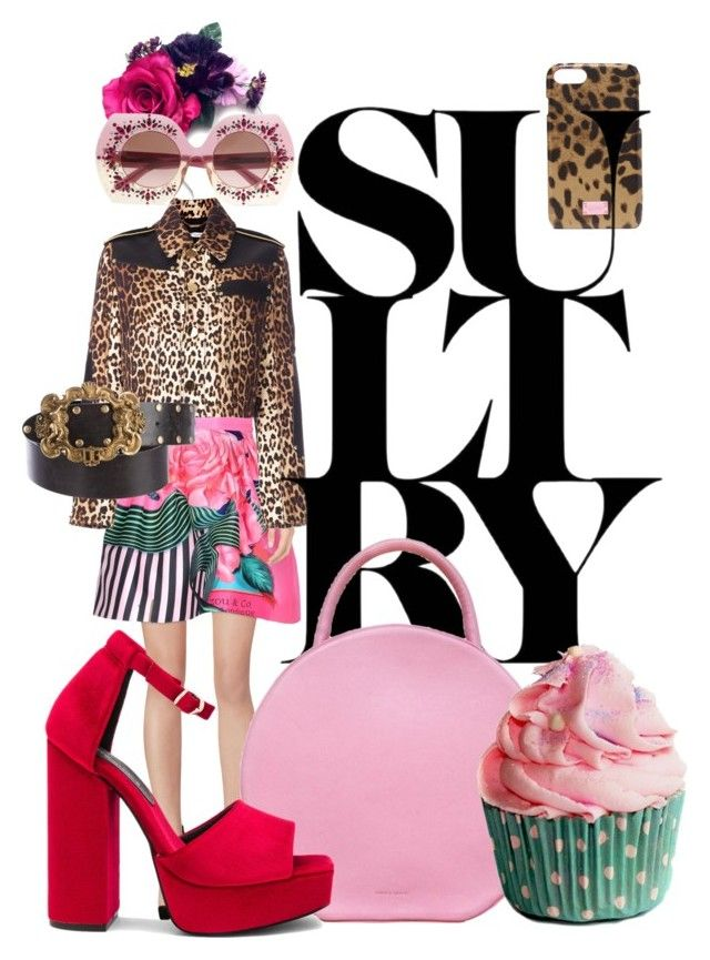 Colourful by illetilmote on Polyvore featuring Givenchy, Mary Katrantzou, Jeffrey Campbell, Mansur Gavriel, Dolce&Gabbana and Crown and Glory