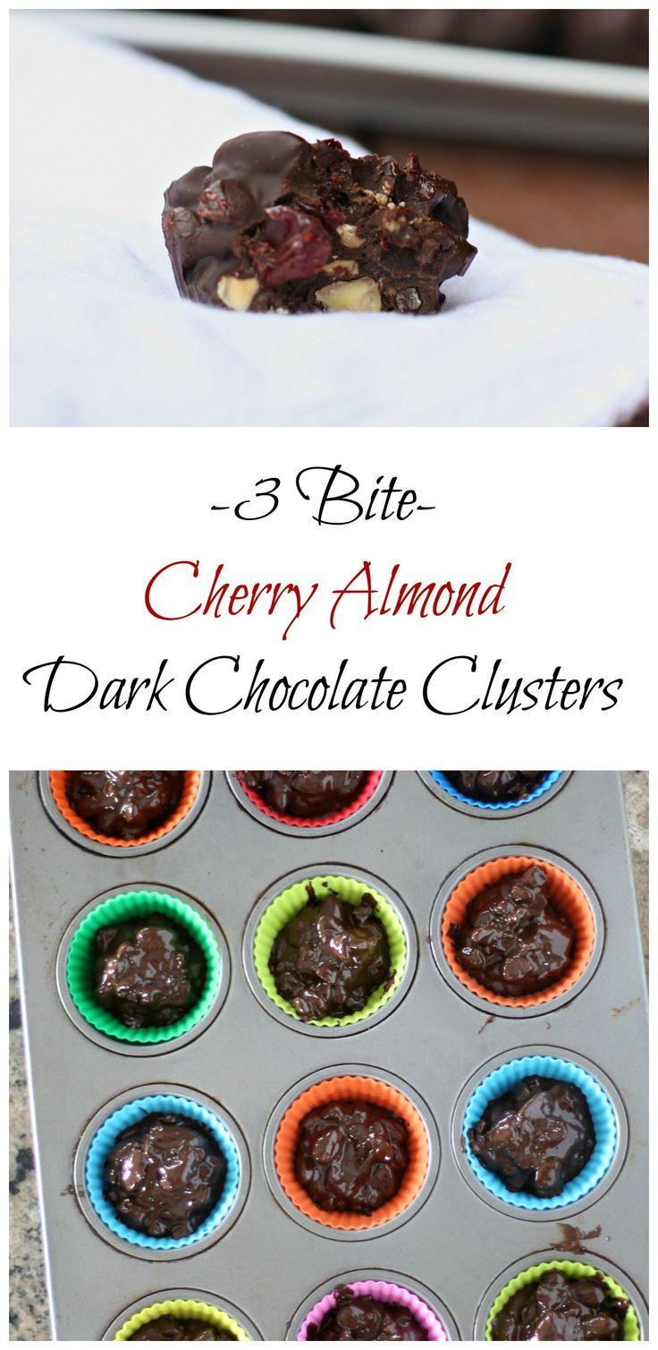 cherry almond dark chocolate bites- delicious break