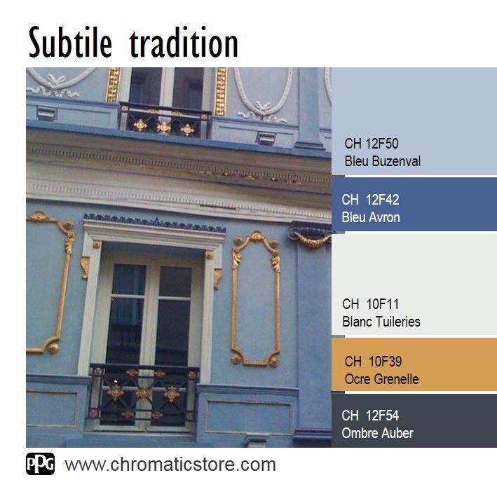 Retrouvez toute l offre couleur du nuancier chromatic for Facade maison gris bleu