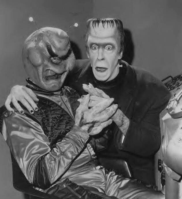 herman meets the alien from the outer limits - Munsters Halloween Episode