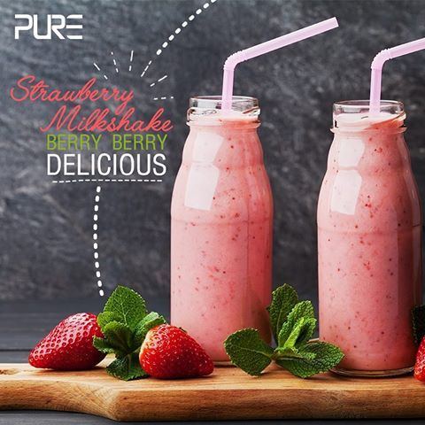 When it comes to shakin' get our strawberry shake and go into a berrylicious escape! #milkshake #strawberry #enjoy #healthy #ramadan #iftar #suhur #energy