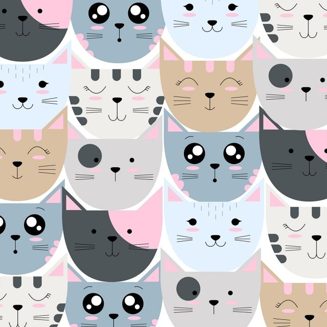 Cute Cat Pattern Cute Cat Pattern Png And Vector With Transparent Background For Free Download Cat Background Cat Wallpaper Cat Pattern
