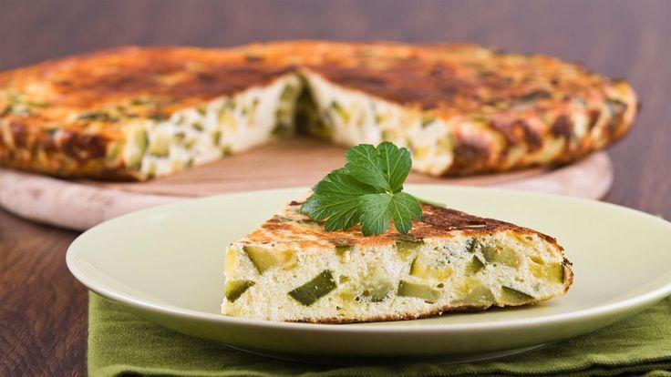 Zucchini & cheese slice