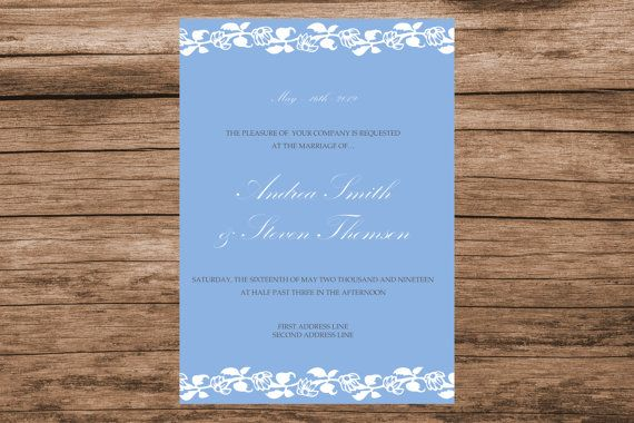 Flower vines wedding invitation template by WeddingTemplatesHub