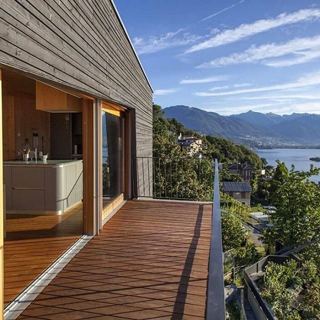 See that's what I call a view. Love the deck.  #interior #furniture #terrace #living