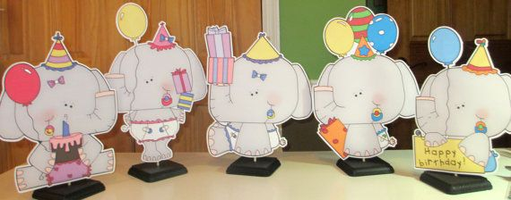 Set of Five One Foot Babys first Birthday Centerpieces